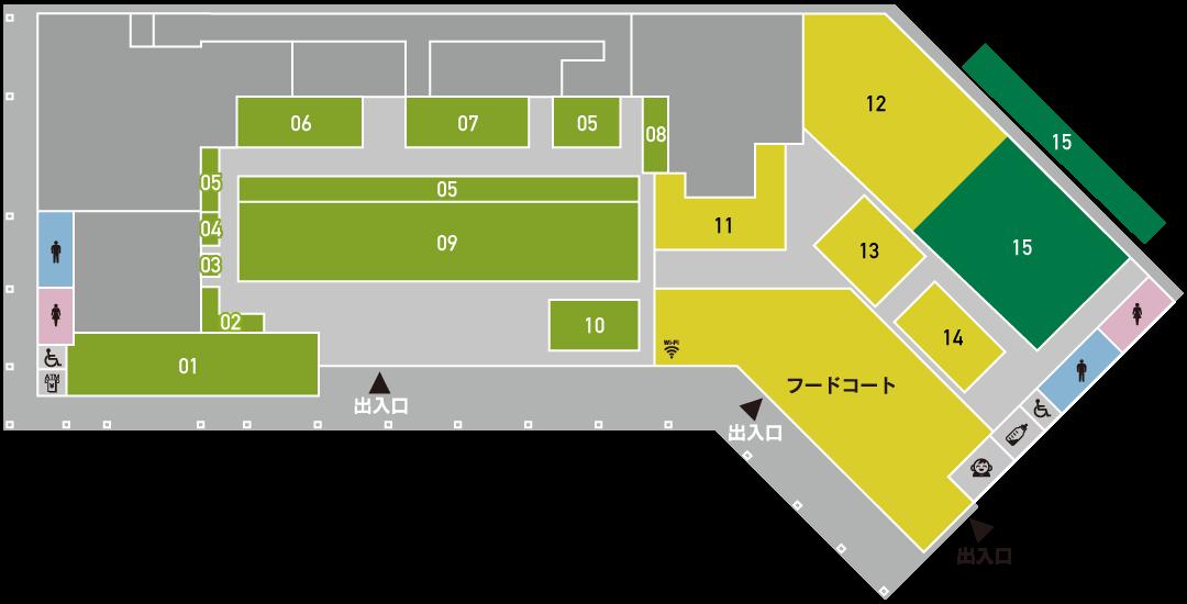 あいさい広場 施設紹介フロアマップ